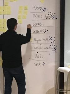 Photo of Brian facilitating Collab Lab 15
